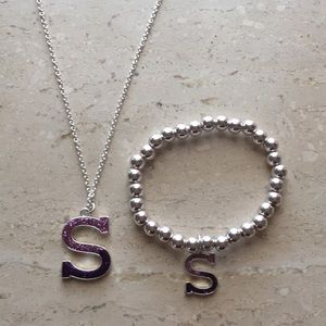 Jewelry - S bracelet and necklace